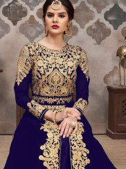 Blue Party Floor Length Anarkali Suit