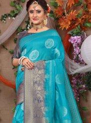 Blue Party Traditional Designer Saree