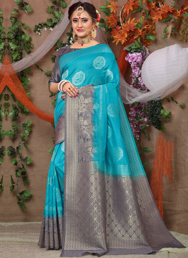 Blue Party Traditional Designer Saree