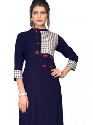 Blue Party Wear Kurti