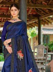 Blue Patchwork Trendy Saree