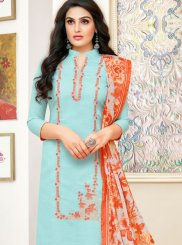 Blue Print Churidar Designer Suit