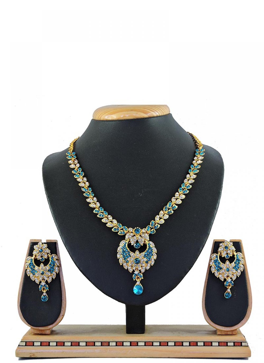 Blue Reception Necklace Set