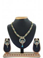 Blue Reception Necklace Set