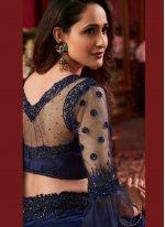Blue Reception Silk Saree