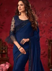 Blue Reception Silk Saree