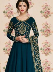 Blue Sangeet Georgette Anarkali Suit