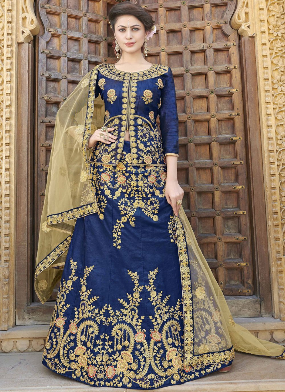 Blue Sangeet Trendy Lehenga Choli