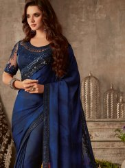 Blue Silk Silk Saree