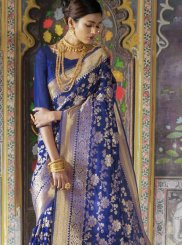 Blue Silk Traditional Saree