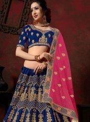 Blue Stone Mehndi Designer Lehenga Choli