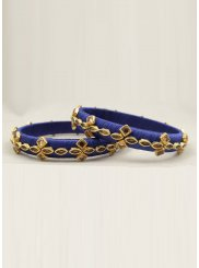 Blue Stone Work Ceremonial Bangles