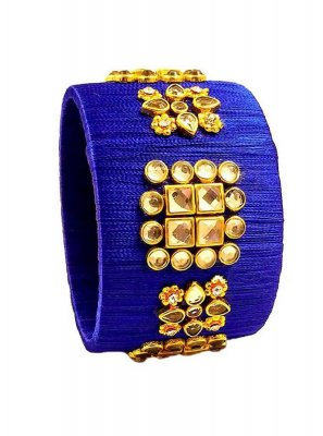 Blue Stone Work Party Kada Bangles