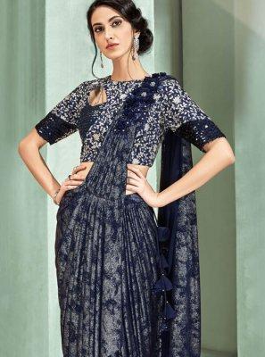 Blue Trendy Saree