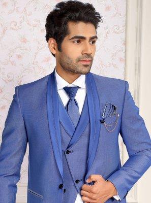 Blue Viscose Coats & Blazers