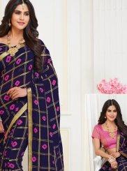Blue Weaving Art Silk Classic Designer Saree