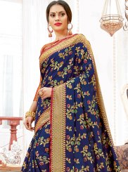 Blue Weaving Art Silk Traditional Designer Saree