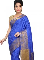 Blue Weaving Designer Traditional Saree