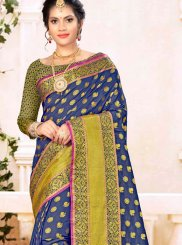 Blue Weaving Festival Traditional Saree