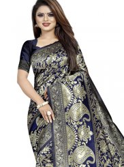 Blue Weaving Party Casual Saree
