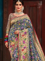 Blue Weaving Patola Silk  Traditional Saree