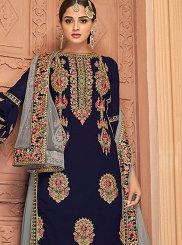 Blue Wedding Designer Palazzo Salwar Suit