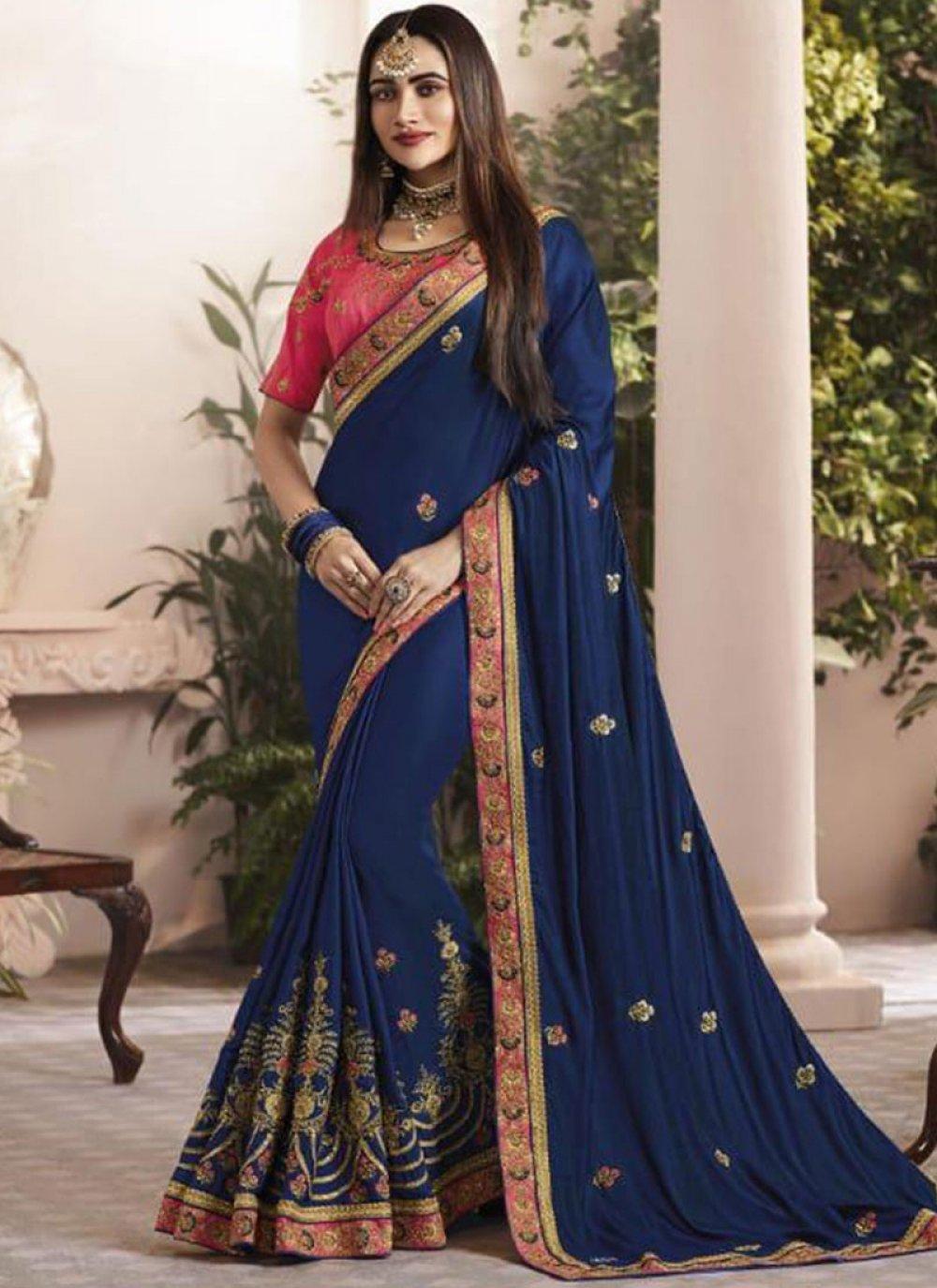 Blue Wedding Designer Saree