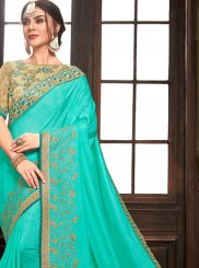 Blue Wedding Designer Traditional Saree