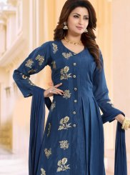 Blue Wedding Linen Readymade Suit