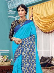 Blue Woven Art Silk Traditional Designer Saree