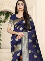 Blue Woven Classic Saree