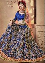 Blue Zari Designer Lehenga Choli