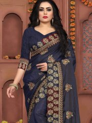 Blue Zari Designer Traditional Saree