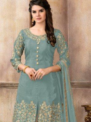 Blue Zari Festival Designer Pakistani Suit