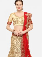 Border Art Silk Designer Lehenga Choli