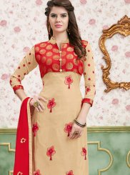 Border Churidar Salwar Suit