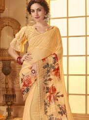 Border Cotton Cream Casual Saree