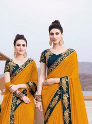 Border Sangeet Trendy Saree