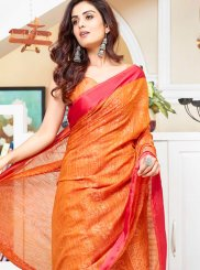 Brasso Abstract Print Printed Saree