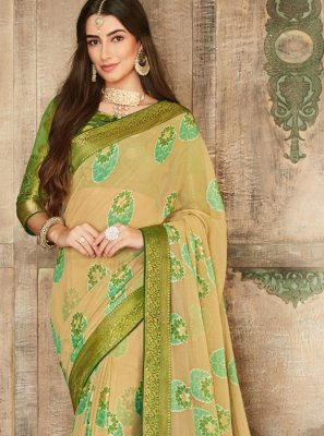 Brasso Beige Traditional Saree
