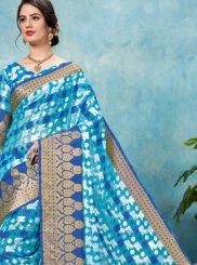 Brasso Blue Woven Designer Traditional Saree