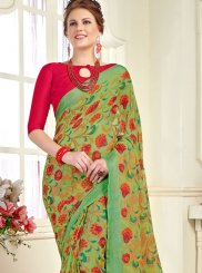 Brasso Green Trendy Saree