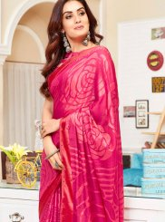 Brasso Multi Colour Abstract Print Printed Saree