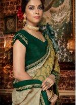 Brasso Multi Colour Printed Saree