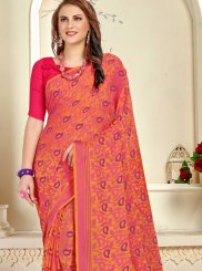 Brasso Trendy Saree in Rose Pink