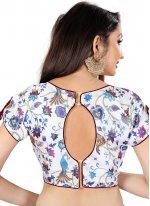 Brocade Embroidered Designer Blouse in White