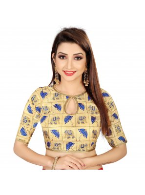 Brocade Gold Designer Blouse