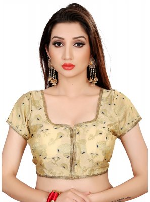 Brocade Gold Embroidered Designer Blouse