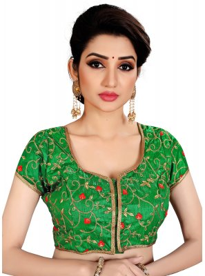 Brocade Green Designer Blouse