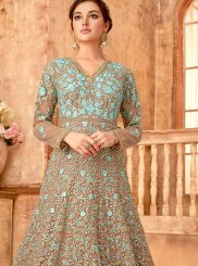 Brown Anarkali Suit